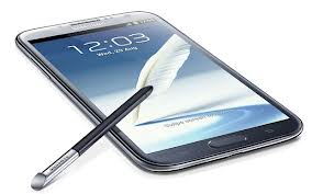 Galaxy Note II with stylus