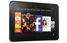 Kindle Fire HD in landscape mode