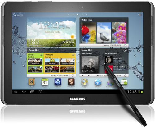 Samsung Galaxy Note 10.1 inch tablet computer