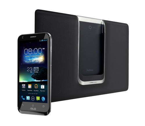 Back view of black Asus Padphone 2