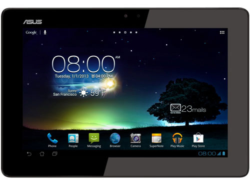 Front view of black Asus Padphone 2